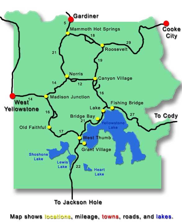 Attractions Yellowstone Gotobus