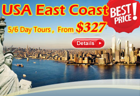 USA East Coast 5/6-Day Vacation Packages
