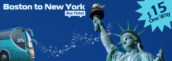 Bus Tickets from Boston to New York $15