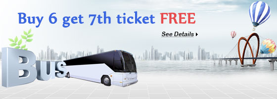 Ride with us and get a FREE bus ticket (available on selected routes)