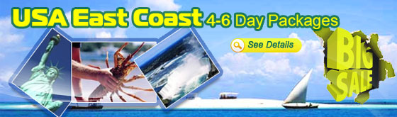 USA East Coast 4-6 Day Packages