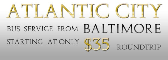 Roundtrip service from Baltimore to Atlantic City