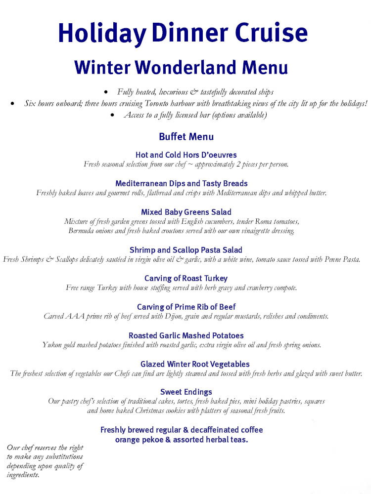 Winter Wonderland Menu 48766 Gotobus