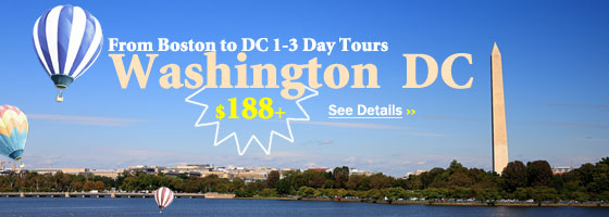 Boston/Charlton to Washington DC 1/3-Day Tours