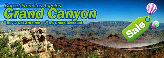 LA to Las Vegas, Grand Canyon South Rim 3-Day Tour $99+
