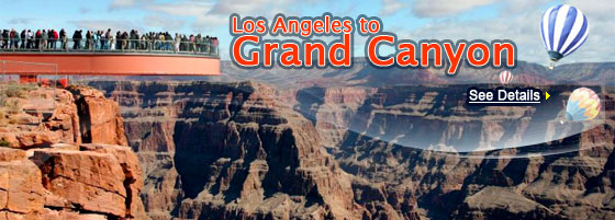 LA to Grand Canyon West Rim 3-4 Days tours